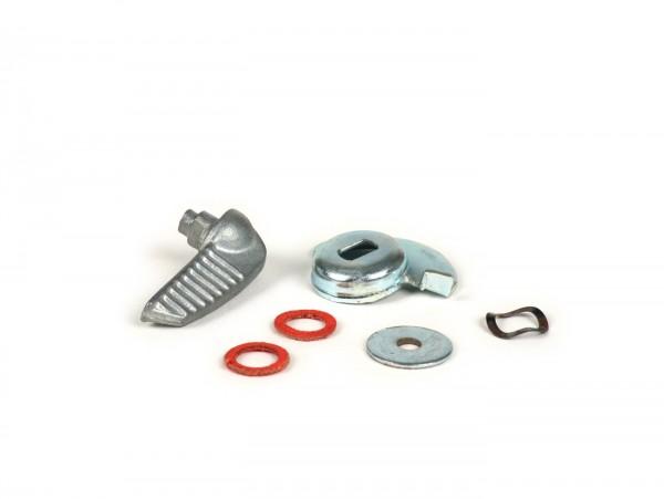 Palanca puerta lateral -CALIDAD OEM- Vespa V50, V90, SS50, SS90, PV125, ET3 - aluminio