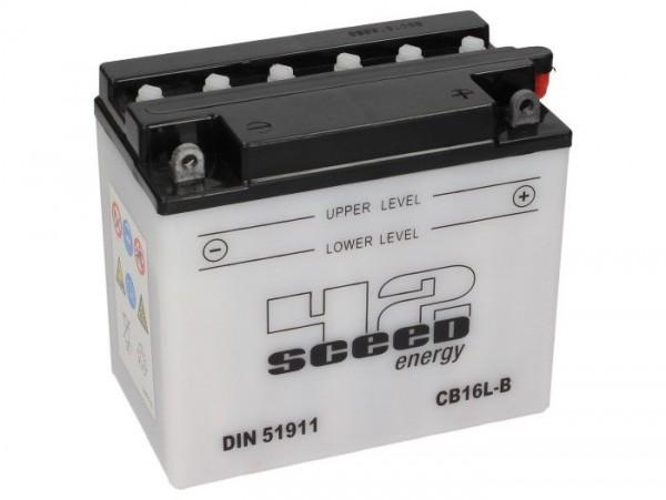 Batterie -Standard SCEED 42 Energy- CB16L-B - 12V, 19Ah - 176x101x156mm (inkl. Säurepack)