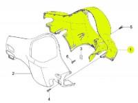 Lenkerverkleidung -PIAGGIO- Vespa LX (ZAPC38, ZAPM44,ZAPM68)