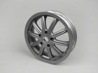 Cerchio ruota -PIAGGIO 3.00-12 pollici - 10 razze- PIAGGIO MP3 - compatibile anche con Vespa GT, GTL, GTS 125-300, GTV - senza ABS - argento
