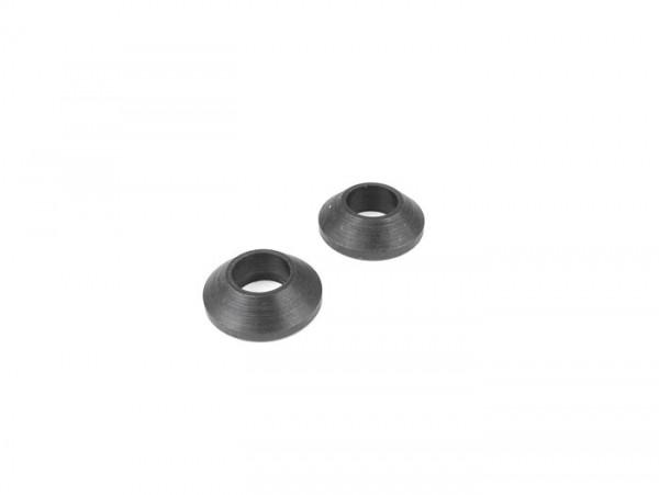 Pair of spacer rings for luggage rack plate -OEM QUALITY- Vespa Wideframe V98, V1-V15, V30-V33, VN, VM, VL, VB, VU