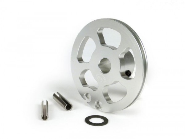 Schaltzugrolle -BGM Pro made by JPP, Aluminium CNC- Lambretta LI (Serie 3 ab Bj. 1966), LIS (ab Bj. 1966), SX, DL, GP - Silbern eloxiert