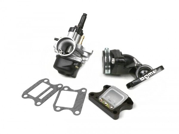 Carburettor kit -BGM Pro 17,5mm PHBN- Peugeot 50 cc 2-stroke (vertical, electric choke) - Peugeot, Honda - HONDA BALI 50, DIO, SFX, SGX SKY, SH 50, SHADOW 50, X8RS, X8RX, SXR, PEUGEOT BUXY 50, ELYSEO 50, ELYSTAR 50, JETFORCE 50 TSDI, LOOXOR 50 TSDI,