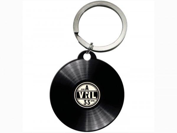 """Schlüsselanhänger -NOSTALGIC ART- """"Retro Vinyl"""" Ø=40mm- rund"""