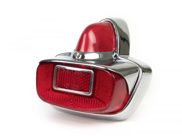 Rücklicht -SKY Vespa GS- Metall - Chrom / Rot