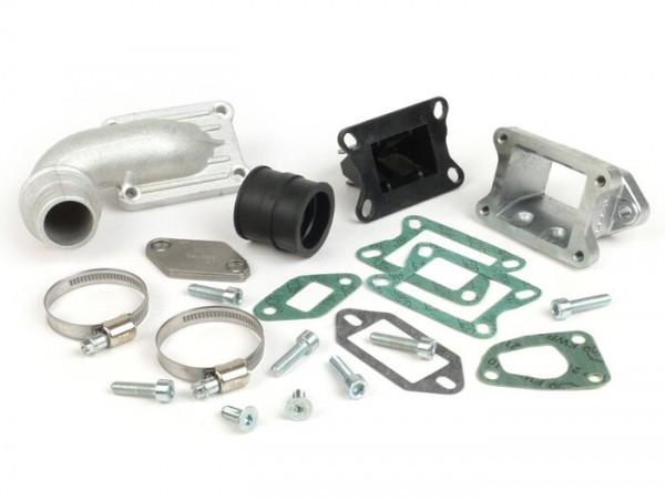 Colector de admisión - para caja de láminas -MALOSSI V2.0 válvula de láminas admisión de cilindro 136cc MK2, MK3, MK4, MHR- Vespa V50, PV125 - Ø conexión=30mm