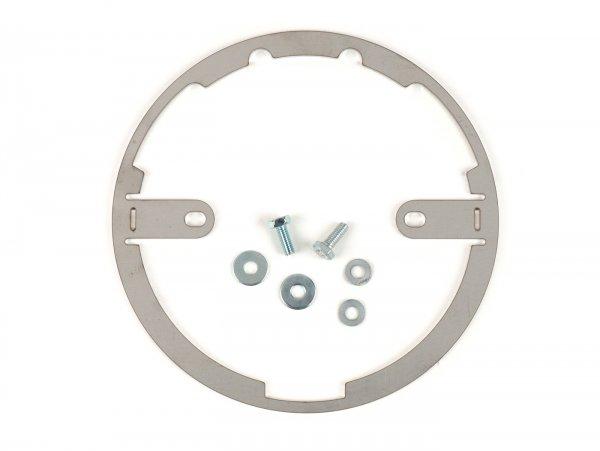 Montagerahmen-Set für Scheinwerfer -MOTO NOSTRA- LED HighPower - Ø=120mm - 12V DC - E9-Kennzeichnung - zur Umrüstung von Lambretta LI (Serie 3)
