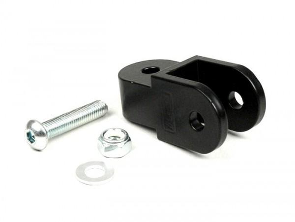 Shock absorber raiser -BGM ORIGINAL- 40mm (M8 x 20mm, type Minarelli 50) - black