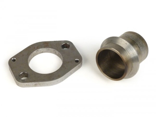 Exhaust manifold adapter -BGM- Vespa T5 125cc (complete exhaust flange/manifold for PX125/PX150 exhausts on T5 engines)