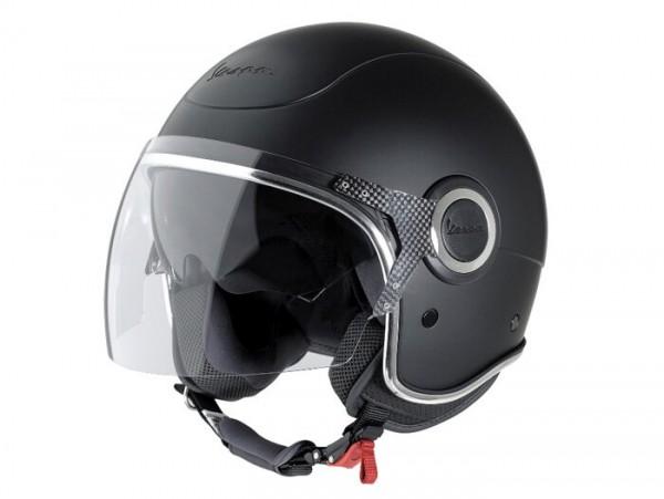 Helm -VESPA VJ- Jethelm, schwarz matt - S (55-56cm)