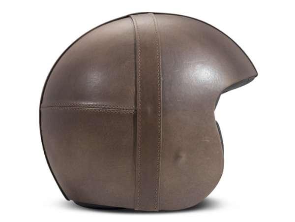 Helmet -DMD Jet Vintage- open face helmet, vintage - Bowl Smoked Grey - L (59cm)