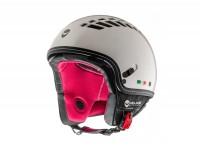 Helmet -HELMO MILANO- Demi jet, ViaColVento, pearl white - L (58cm)
