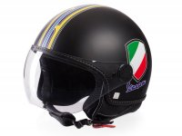 Helmet -VESPA  open face helmet V-Stripes- yellow black (Casco Black)-  XS (52-54 cm)