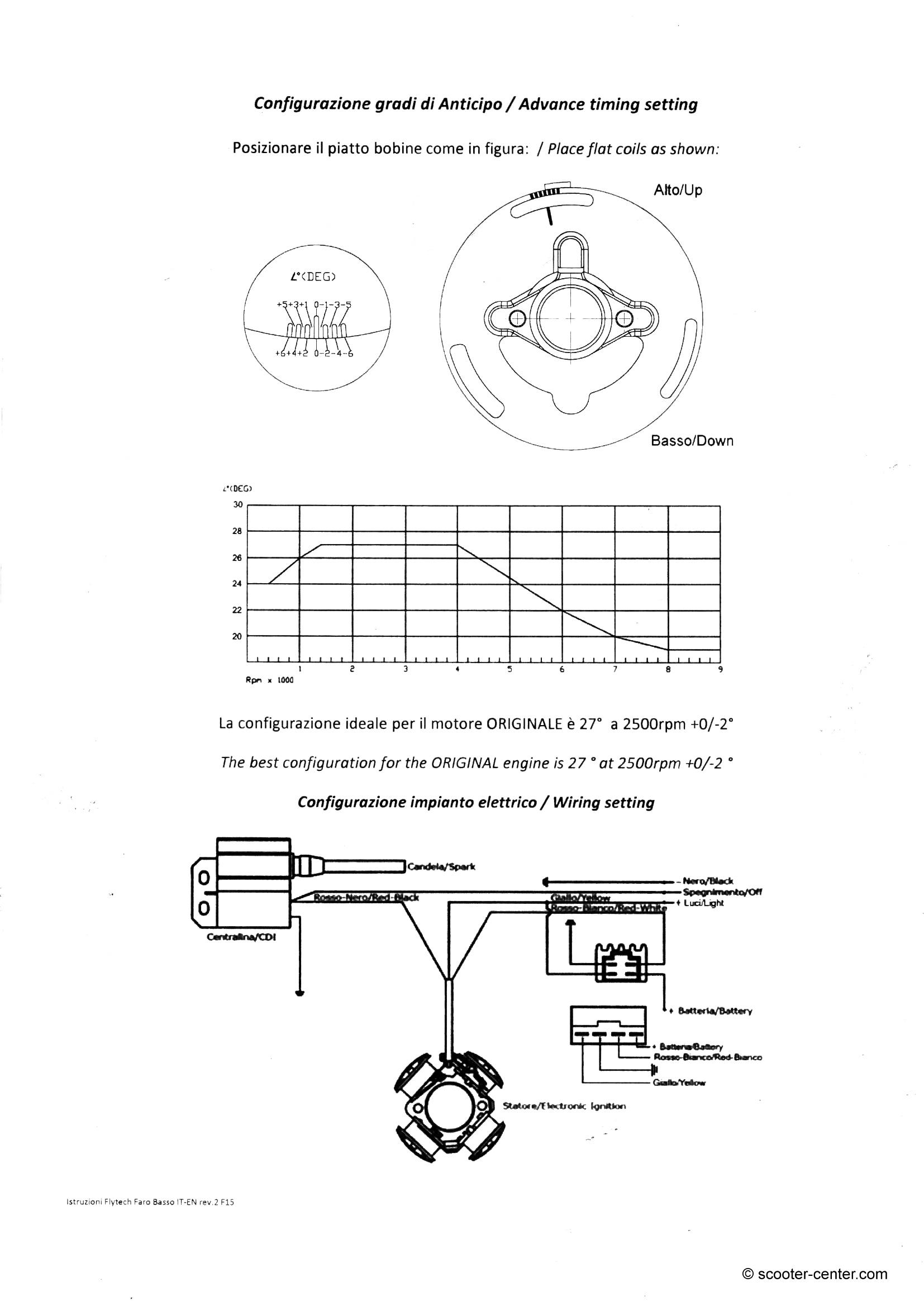 Ignition -PINASCO Flytech- Vespa Wideframe V15-33, VM, VN, ACMA, VB1 ...