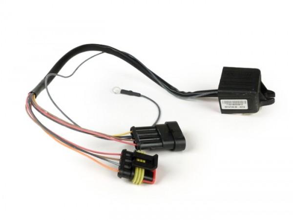 Lambda emulator -MALOSSI TC Unit O2 Controller- Piaggio Quasar/HPE 250/300 LC i.e., Aprilia SCARABEO Light 250 ie 4-stroke LC 2007->, Aprilia SPORTCITY 250 ie 4-stroke LC euro 3 (PIAGGIO M288M), Derbi RAMBLA 250 ie 4-stroke LC euro 3, Gilera NEXUS 25
