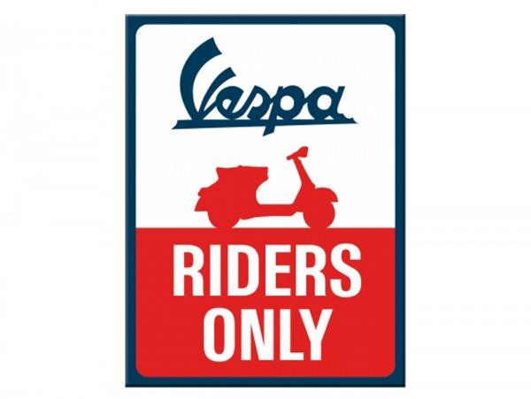 "Magnet  -Nostalgic Art- Vespa, ""Riders Only"" - 6x8cm"
