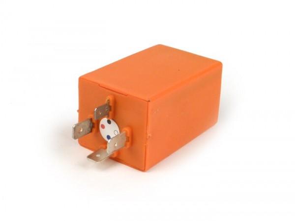 Blinkrelais -PIAGGIO 4-Pin- 12V- Vespa 50 Automatik (V5P2T), PK50 S Automatik (VA51T), PK80 S Automatik (VA81T), PK50 S (V5X2T), PK80 S (V8X5T), PK50 S Lusso (V5X2T), PK50 XL Automatik (VA51T)