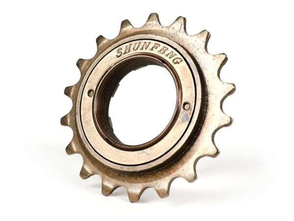 Chain pinion -RMS- PIAGGIO CIAO PX, SI, Bravo, Superbravo, Grillo, Boss 50ccm - Z=18
