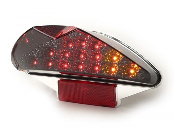 Rücklicht -BGM ORIGINAL Klarglas 15 LED mit Blinkerfunktion- MBK Nitro (YQ50/L, 2-Takt), Yamaha Aerox (YQ50/L, 2-Takt) - schwarz