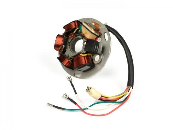 Encendido -CALIDAD OEM placa de base- Vespa PX Iris Elestart (con batería 1984-1997) - 7 cables