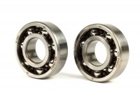 Ball bearing set crankshaft  -MALOSSI Sport Minarelli 50cc- 6204 (20x47x14mm) - C4H polyamide, ball Ø=9.5mm - (used for crankshaft CPI / Minarelli 50cc (type MA, MY, CW, CA, CY))