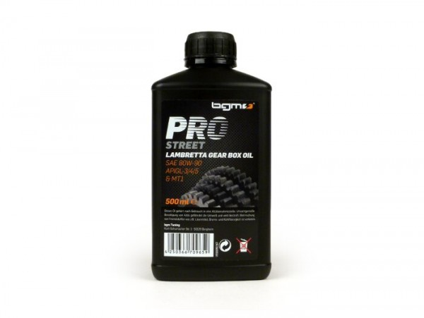 Getriebeöl -BGM PRO STREET- Lambretta SAE80, GL3 - 500ml