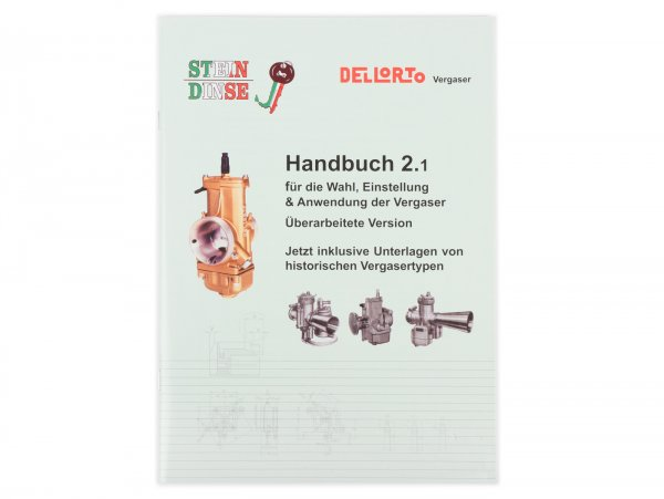 Libro - DELLORTO, Funzionamento e messa a punto Dellorto carburatore manuale 2.1- tedesco