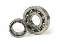 Ball bearing set crankshaft -MALOSSI Sport Vespa PX- 613912 (25x62x12mm) - C4, ball Ø=10.3mm + NBI 253815- (25x38x15mm) - (used for crankshaft Vespa PX, Sprint Veloce, Rally200 (Ducati))
