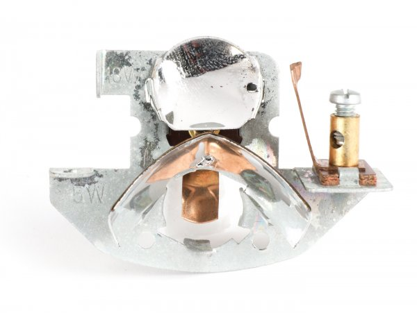 Birnenhalter Reflektor -HELLA (NOS)- Vespa Schwanenhals - Vespa V50, GS150 / GS3 (deutsch)