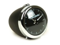 Despertador redondo -RETRO Ø=7cm- Vespa, óptica faro - negro
