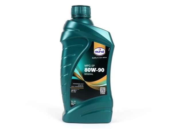 Getriebeöl -EUROL SAE 80W90 GL4 - 1000ml - Empfehlung für Vespa GT/GTS/GTV125-300, LX/LXV125-150