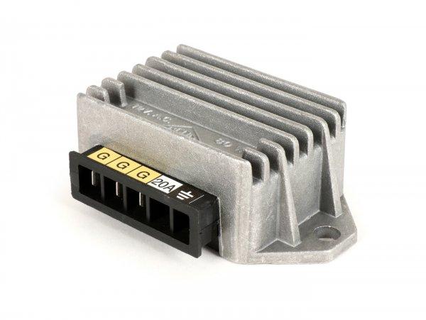 Regulador de tensión -4-clavijas 12V 20A (G|G|G|Masse)- Vespa Cosa (sin batería), PK XL2
