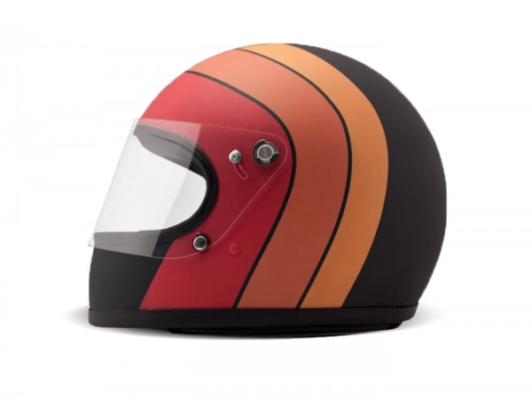 Casco -DMD integrale Vintage- casco integrale, Fuoco - XL (60-62cm)