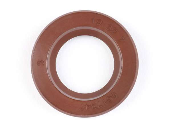 Wellendichtring 19x32x7mm -MALOSSI PTFE/FKM- (verwendet für Kurbelwelle Lichtmaschinenseite Vespa V50, V90, SS50, SS90, PV125, ET3, PK S)