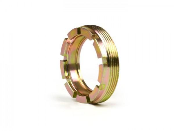 Tuerca almenada rodamiento rueda trasera -VESPA Ø int.=40mm, Ø ext.=54mm, 9 dientes- Vespa GS160 (VSB1T, VSB2T), SS180 (VSC1T)