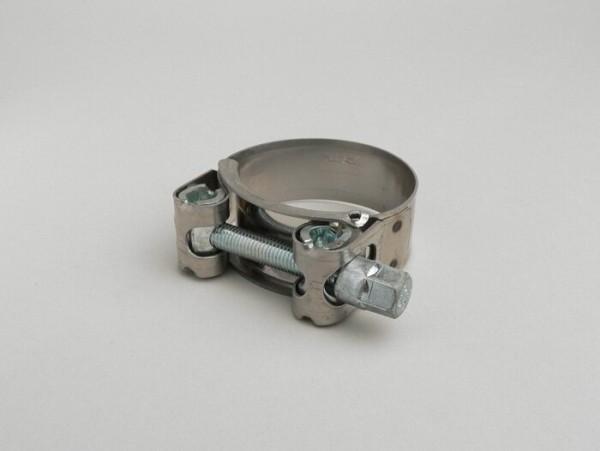 Abrazadera para codo escape -UNIVERSAL tipo súper presión- Ø=43-47mm