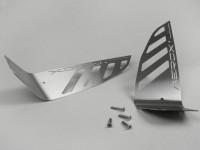 Chapa estriada acero inoxidable pulido -LENNES- MBK Nitro (YQ50/L, 2-tiempos), Yamaha Aerox (YQ50/L, 2-tiempos)