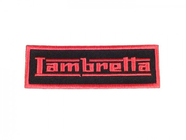 Patch thermocollant -LAMBRETTA- rouge - 90x30mm
