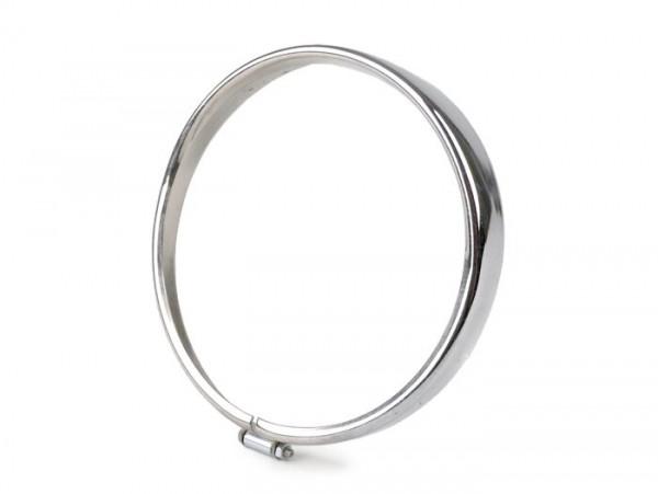 Scheinwerferzierring -SIEM Ø=105/115mm (Glas/außen)- Vespa V50, V90 - Chrom