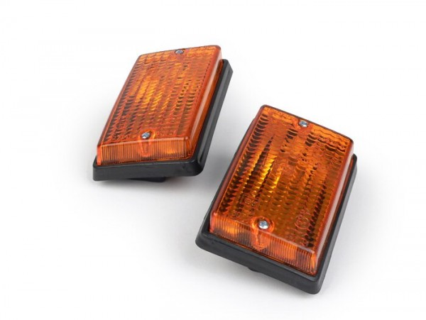 Blinker-Set -BOSATTA 2er- Vespa PK50 S, PK80 S, PK125 S hinten - orange