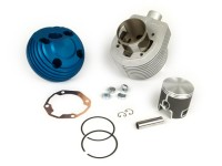 Cylinder -PARMAKIT TSV09 Classic 187 ccm 3 Ports, 60mm stroke, single exhaust port- Vespa PX125, PX150, Cosa125, Cosa150, GTR125, TS125, Sprint Veloce (VLB1T 0150001-)