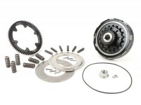 Clutch incl. primary drive set -BGM Pro Superstrong 2.0 CR Ultralube, type Cosa2/FL - primary gear BGM Pro 62 tooth (straight) - Vespa PX80, PX125, PX150, PX200, Cosa, T5, Sprint150 Veloce, Rally, GTR, TS125, Super150 (VBC) - 25/62 tooth (2.48)
