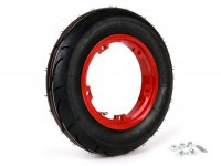 Wheel -BGM Sport, tubeless, Vespa- 3.50 - 10 inch TL 59S (reinforced) - wheel rim 2.10-10 red
