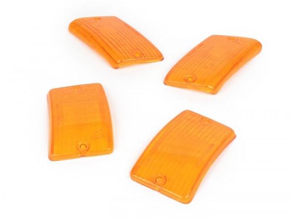 Blinkergläser -BOSATTA 4er Set- Vespa PK50 XL, PK125 XL - orange
