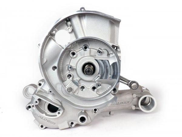 Carter del motor -MALOSSI VR-One, toma de membrana, incl. cigüeñal eje King carrera 64mm, biela 128mm para Quattrini M232/M244- Vespa PX200 Elestart