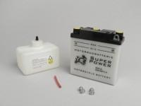 Batterie -Standard B39-6 (6N7-1)- 6V 7Ah - 126x126x48mm (inkl. Säurepack) - Vespa Sprint150 (VLB1T) (D), VNB1T, VL3T, VB1T, VBA1T, VBB1T, GL150 (VLA1T), VGL1T, Vespa 150 T3 (VD2T) , Vespa 150 T4 (VGLA1T - VGLB1T) - (inkl. Säurepack)