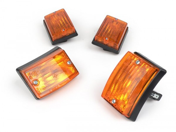 Blinker-Set -BOSATTA 4er- Vespa PK50 S, PK80 S, PK125 S - orange