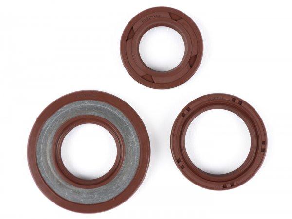Oil seal set engine -BGM PRO, FKM/Viton® (E10/etahnol resistant)- Vespa Smallframe 19mm - V50, PV125, ET3, PK50, PK80, PK125 S