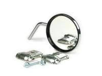 Specchietto -VICMA fissaggio sul bordoscudo- cromato, destra, universale - Ø= 80mm