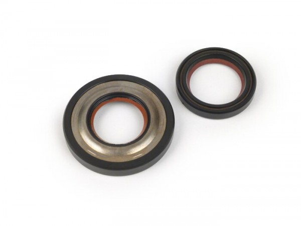 Oil seal set for crankshaft -MALOSSI PTFE/FKM, 24mm cone- Vespa PK125 XL2, ETS